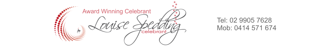 Louise Spedding Celebrant